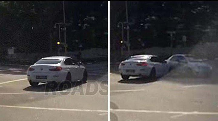 A teleported car causes an accident in Singapore