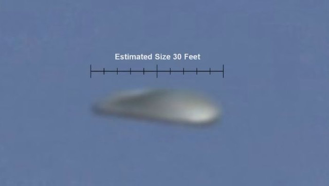 The tourist photographed a UFO in the Canary Islands