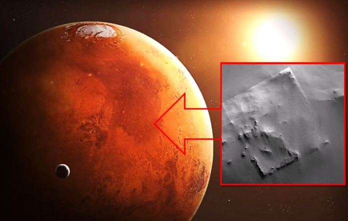 NASA Probe Captured On Mars The Ruins Of A Huge Ancient Structure