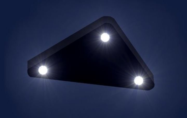A Huge Triangular UFO Caught In The Night Sky Over New Jersey