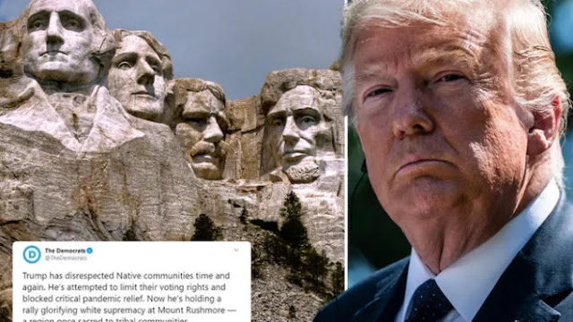 Democrats CAUGHT Deleting Tweet Targeting Mount Rushmore Over
