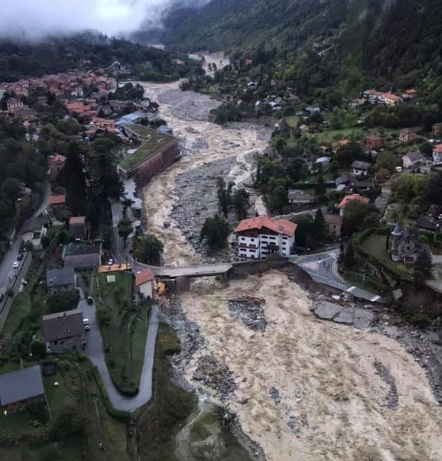 "Storm ""Alex"" hit France and Italy"