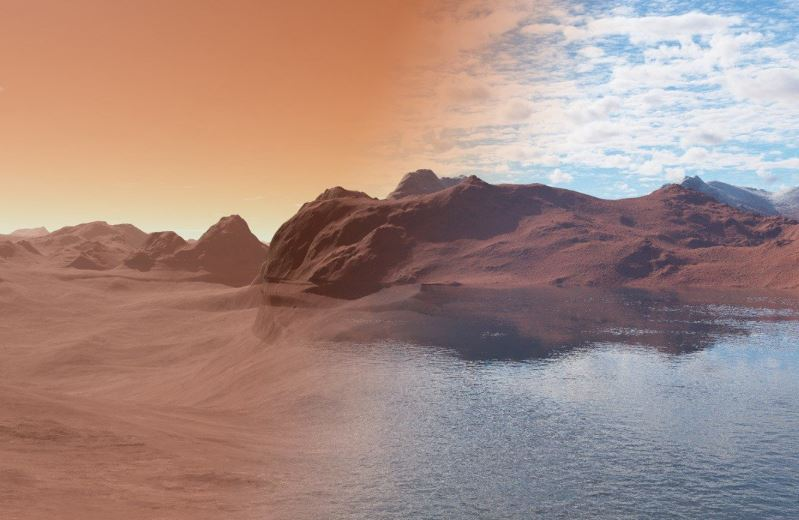 A Network Of Lakes Containing Liquid Water Discovered On Mars