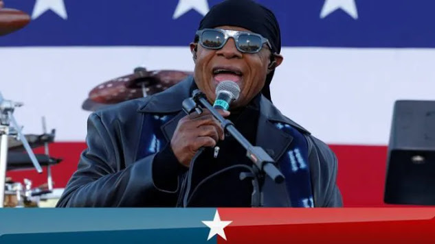 Stevie Wonder Demands Reparations While Performing At Biden Rally