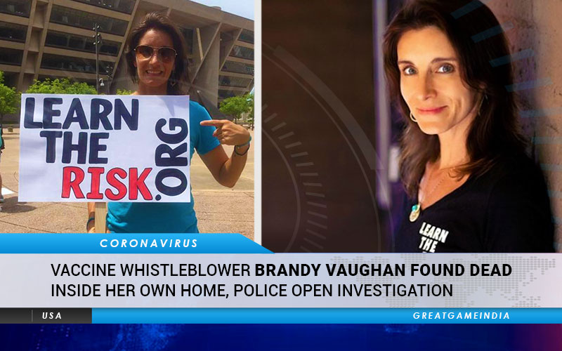 Vaccine Whistleblower Brandy Vaughan Found Dead Inside Her Own Home. P