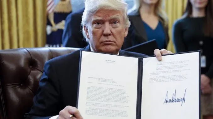 President Trump Signs Bill Giving CIA & FBI 6 Months to Reveal the Tru