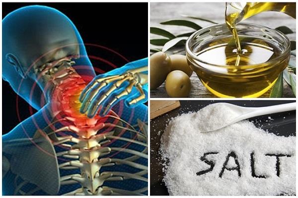 Druskos ir alyvuogių aliejaus mišynys sumažins skausmą