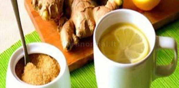 Imbiero arbata: nuo inkstų akmenų, valo kepenis