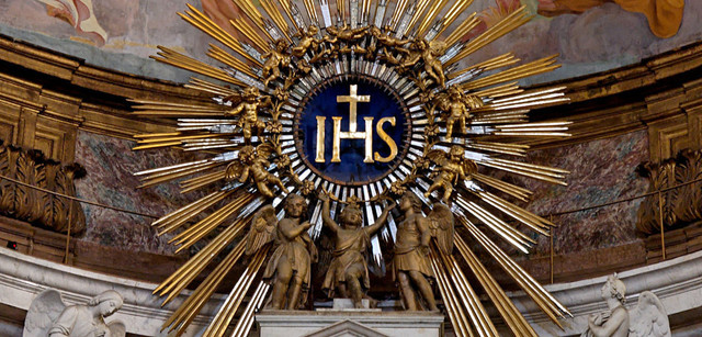 Monochrome version of the IHS emblem of the Jesuits