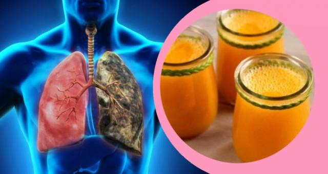Gėrimas, išvalantis plaučius kurie rūkė ar rūko
