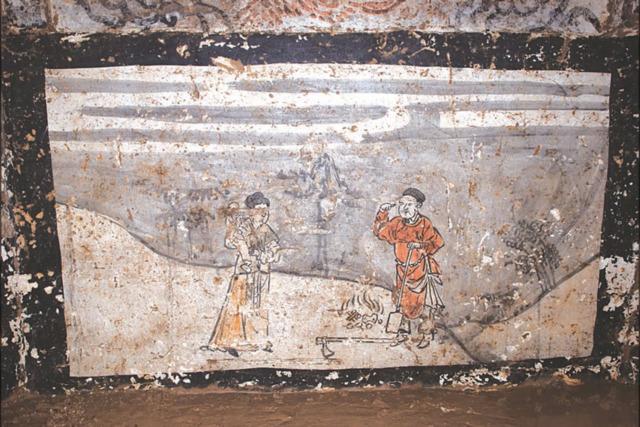 Archeologija, mongolai, freska, istorija