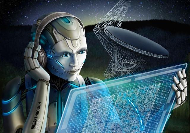 dirbtinis intelektas, kosmosas, mokslas, technologijos, radijo signala