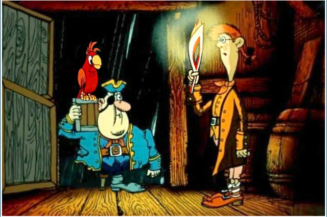 piratai, papūga, istorijos paslaptys