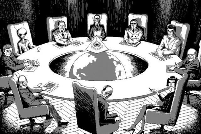slaptas ordinas, masonai, iliuminatai, tamplieriai, sąmoklo teorija