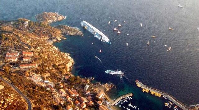 avarijos, Costa Concordia, laivų katastrofos, katastrofos