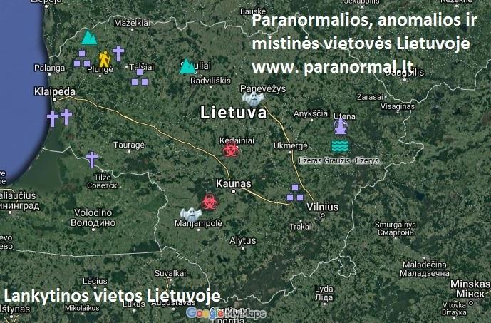 Paranormalios, anomalios ir mistinės vietovės Lietuvoje